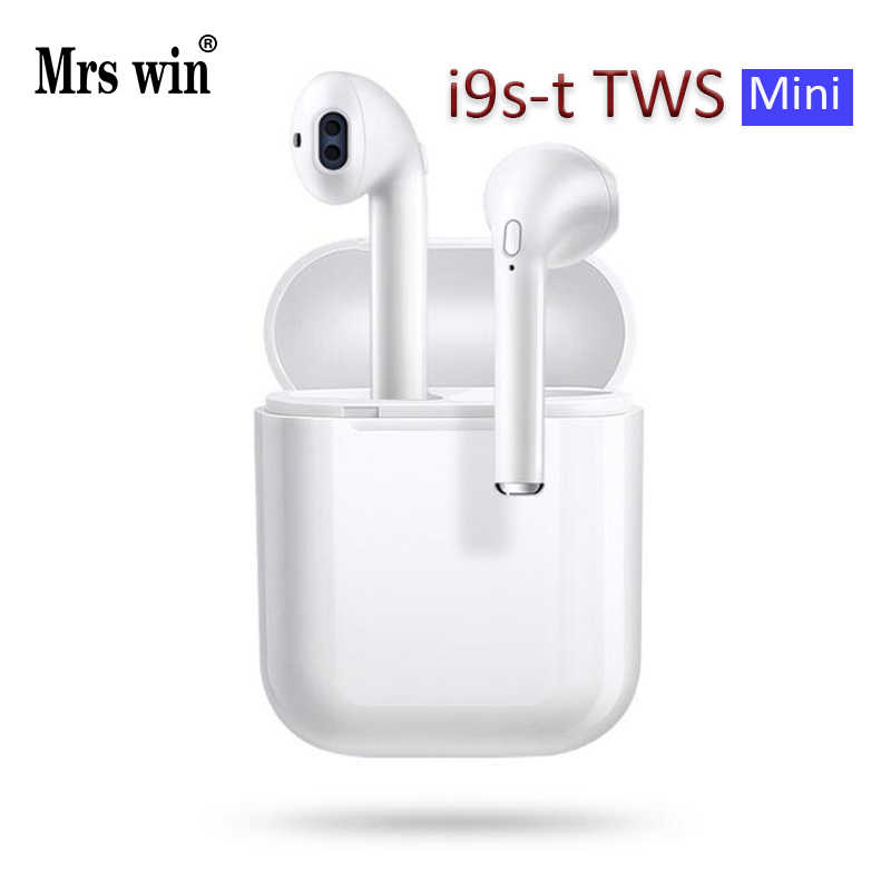 I9S/I9st Tws Mini Nirkabel Bluetooth Earphone Stereo Earbud Headset Headphone MIC untuk iPhone Xiaomi Samsung Ponsel