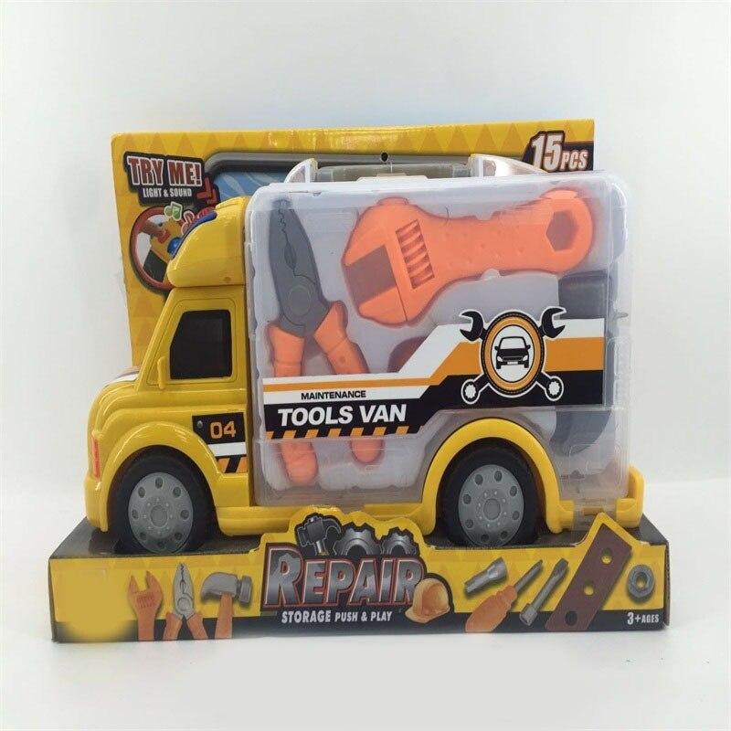 Children Maintenance Sound And Light Caravan Set Early Childhood Educational ENLIGHTEN Baby Caravan Tool Toy Sets