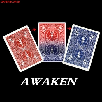 Zmień przez Lloyd Barnes magiczne sztuczki obudź kolor zmiana karty do pokera magiczne rekwizyty bliska rekwizyty sztuczka Magia zabawki Joke Magie tanie i dobre opinie DIAPER CORED Papier CN (pochodzenie) 7-12y 12 + y Unisex Jeden rozmiar Change By Lloyd Barnes Beginner Nauka Profesjonalne