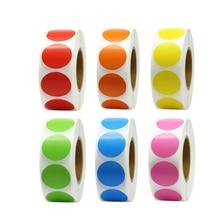 500шт наклейка сплошной цвет наклейки канцтовары для кодирования, декоративные мешки и конверты