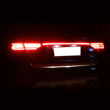 Lsrtw2017 LED Car Tail Light Brake Light Trims for Kia Rio X Line Kx Cross Interior Mouldings Accessories 2017 2018 2019 2020 lsrtw2017 abs car rear window stri trims car styling for kia k5 optima 2016 2017 2018 2019 2020 interior mouldings accessories