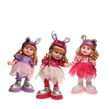 Muñeca de conejo de 50 cm, juguetes musicales de animales, música de felpa electrónica, muñeca de baile y canto, juguetes de peluche para niños