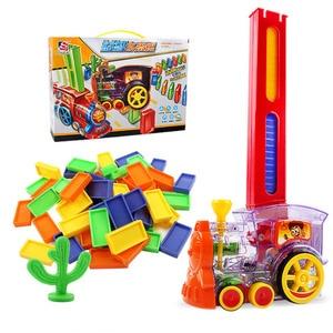 Image 3 - ドミノ自動敷設おもちゃ電車ゲームセットドミノ積層した車子供 diy の教育玩具 christams gilft 子供のための