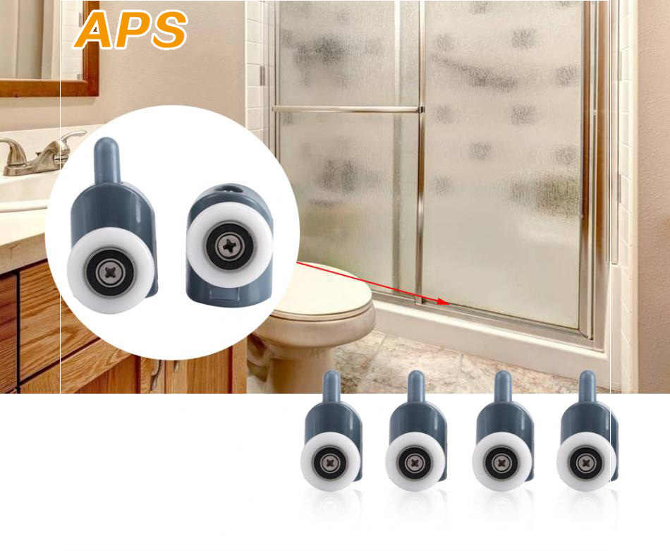 1 Uds. Ruedas de rodillo para cuarto de ducha polea emergente rodamiento de aleación de zinc herrajes puerta corredera rodillo ducha accesorios para cabina