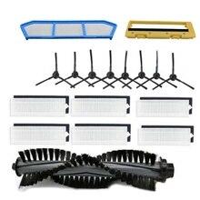 Gorąco! zestawy zamienników filtrów do Ilife A4 A6 A4S A8 A40 filtr Hepa i filtr główny i szczotka boczna pilot rolka szczotka Cov