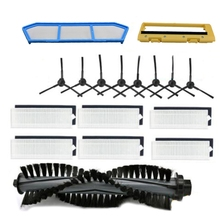 Hot! Filter Vervangingen Kits Voor Ilife A4 A6 A4S A8 A40 Hepa Filter & Primaire Filter & Side Borstel Afstandsbediening controle Roll Borstel Cov