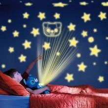 Estrelado de pelúcia brinquedo da lâmpada do projetor animais de pelúcia estrela do ventre sonho lites dos desenhos animados brinquedos de pelúcia céu estrelado sonho noite luz acalmar brinquedo