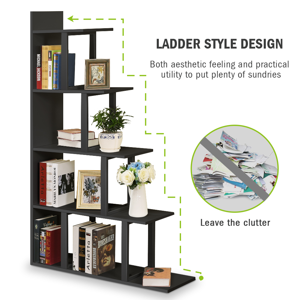 Tribesigns 5 Tier Bücherregal Bücherregal Wand Ecke Regal Leiter Lagerung Display Bookcases Aliexpress