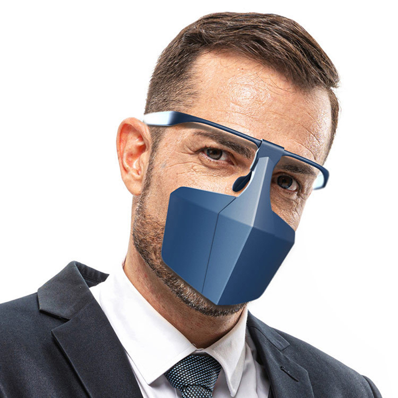 Face-shielding Protective Face Mask Anti-fog Anti-splash Anti-fog Anti-virus Dust Isolating Face Shield Equipment Mouth Cover