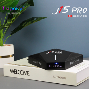 -Vender Tv Box J15Pro Android 9,0 RK3328 Quadcore Dual WIFI 2,4G/5G 4K HD reproductor de medios de comunicación de voz de Google remoto Set Top Dispositivo de tv inteligente
