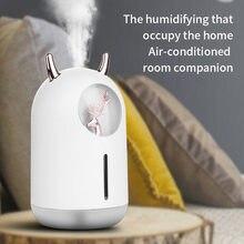 Humidificador de aire para mascotas, pequeño humidificador de aromaterapia para el hogar, con USB