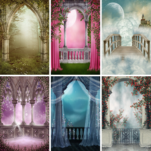 Yeele Landscape Photocall Arch Door Fog Fence Flower Photography Backdrop Personalized Photographic Backgrounds For Photo Studio(China)
