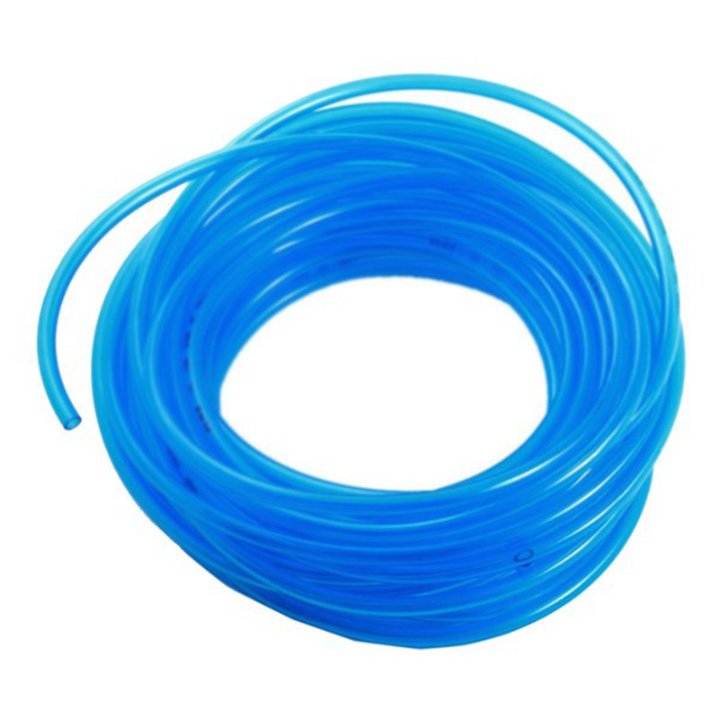 Hot 15 M, Transparent Blue Fuel Gas Polyurethane PU Compressed Air Hose, 4 X 6 Mm