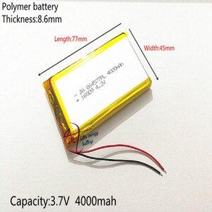 Free shipping Polymer battery 4000 mah 3.7V 864577 smart home MP3 speakers Li-ion battery for dvr,GPS,mp3,mp4,cell phone,speaker