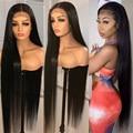 Прозрачные передние парики HD, малайзийские прямые парики 13x4x1, передние парики из человеческих волос на сетке для женщин, 150% парик без повреж...