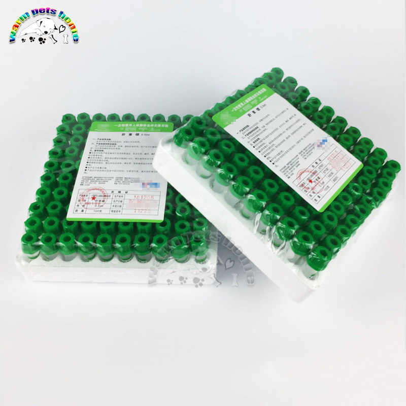 Heparin Tube Lithium Heparin And Sodium Heparin Disposable Blood Collection Tube Veterinary Supplies