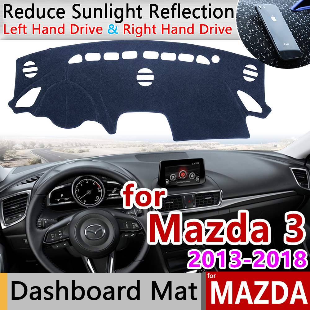 for Mazda 3 BM BN 2013 2018 Axela Anti-Slip Mat Dashboard Cover Pad Sunshade Dashmat Car Accessories for Mazda3 2015 2016 2017