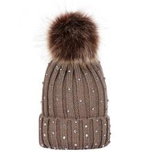 Модная зимняя Детская Вязаная Шапка бини с помпоном, теплые шапки для девочек и мальчиков, повседневные милые шапки с помпоном, шапочки, облегающие шапки 2019