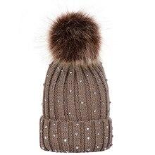 Moda zima dzieci dziergana czapka kapelusz z pomponem ciepłe czapki dla dziewczynek chłopców dorywczo słodkie czapki z pomponem Skullies czapki 2019
