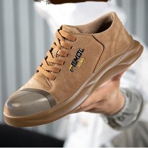 Image 2 - 38~45 men safety shoes Anti smashing Wilderness Survival steel toe Anti slip men work boots #KDDK601