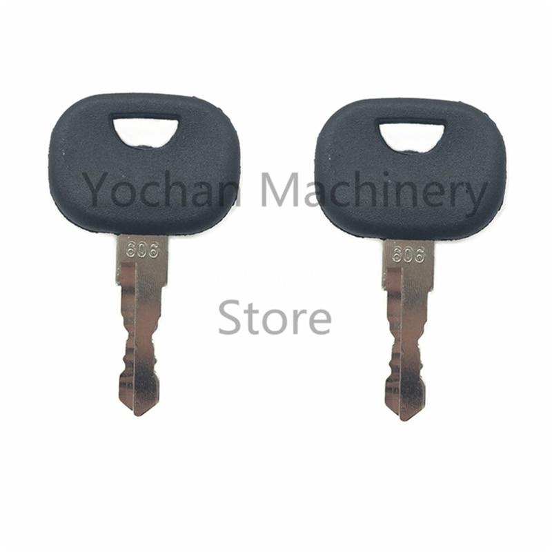 2 шт. 606 ключ зажигания для гусеничного погрузчика Liebherr John Deere стартер тяжелого оборудования