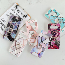 Marble Pattern Finger Ring Phone Case For Samsung Galaxy S20 Ultra S20 S10 S8 S9 Plus S10E Note 8 9 10 A10 Soft Case funda Coque