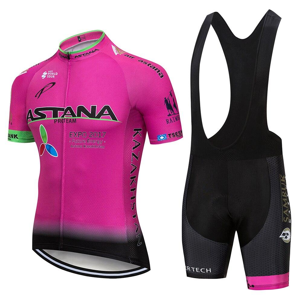 2020 équipe ASTANA cyclisme ensemble de vêtements hommes vélo Maillot vtt course Ropa Ciclismo été Hombre Roupa vélo Maillot