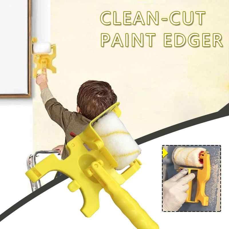 Multifunzionale Pennello Giallo Handheld Clean-cut Rullo Edger Per La Casa Vernice Trattamento di Rivestimento Della Parete Strumenti di Pittura