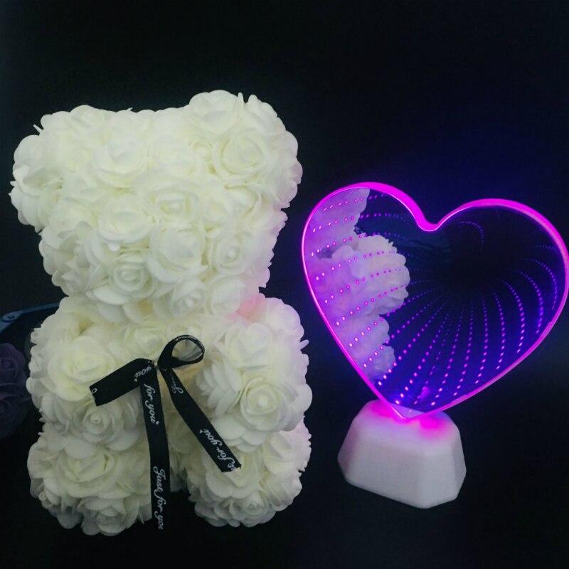 3D светодиодный ночник с сердечком для дома, спальни, украшения на День святого Валентина, детские подарки для девочек