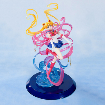 20cm Anime SAILOR MOON Transformation TSUKINO USAGI Statue Beauty Girls Action Figure PVC Collection Model Toys Gifts [show z store] zeta za 01 take off armeggedon combiner combaticons bruticus transformation action figure