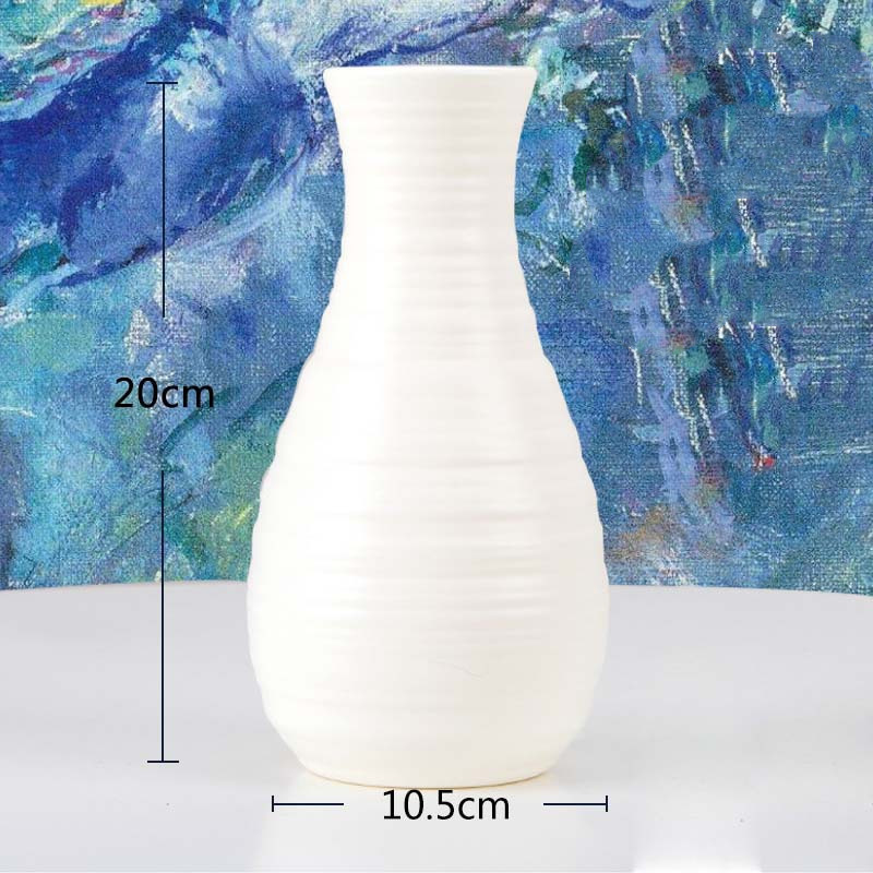 Оригами пластиковая ваза молочно-белая имитация керамического цветочного горшка Цветочная корзина Цветочная ваза для украшения интерьера скандинавские украшения - Цвет: 3500-Milky