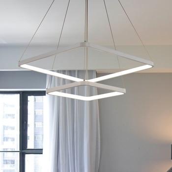 Modern Led Square Pendant Light For Living Room Dining Room Bedroom Hanging Lighting Lamp E27 110-240v Bed Ing industrial lamp
