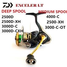 Deep-Spool Fishing-Reel Spinning 4000-C Daiwa Exceler 3000D-C Spool/2500d LT 2500-XH