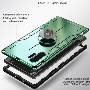 Image 5 - For Samsung Galaxy Note 10 Plus Metal Case Aluminum Alloy Military Armor Ring Stand Case for Samsung Note 10 S10 Plus S20 Ultra