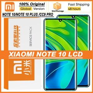 """Image 1 - 100% originale 6.47 """"Display Amoled con cornice per XiaoMi Mi Note 10 Pro Mi CC9 Pro Touch Screen Digitizer Assembly parti di riparazione"""