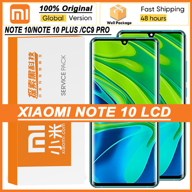 """100% originale 6.47 """"Display Amoled con cornice per XiaoMi Mi Note 10 Pro Mi CC9 Pro Touch Screen Digitizer Assembly parti di riparazione"""
