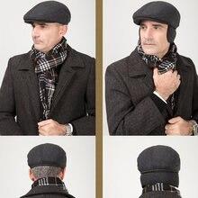 Хлопковые мужские шапки головные уборы береты очки подходят