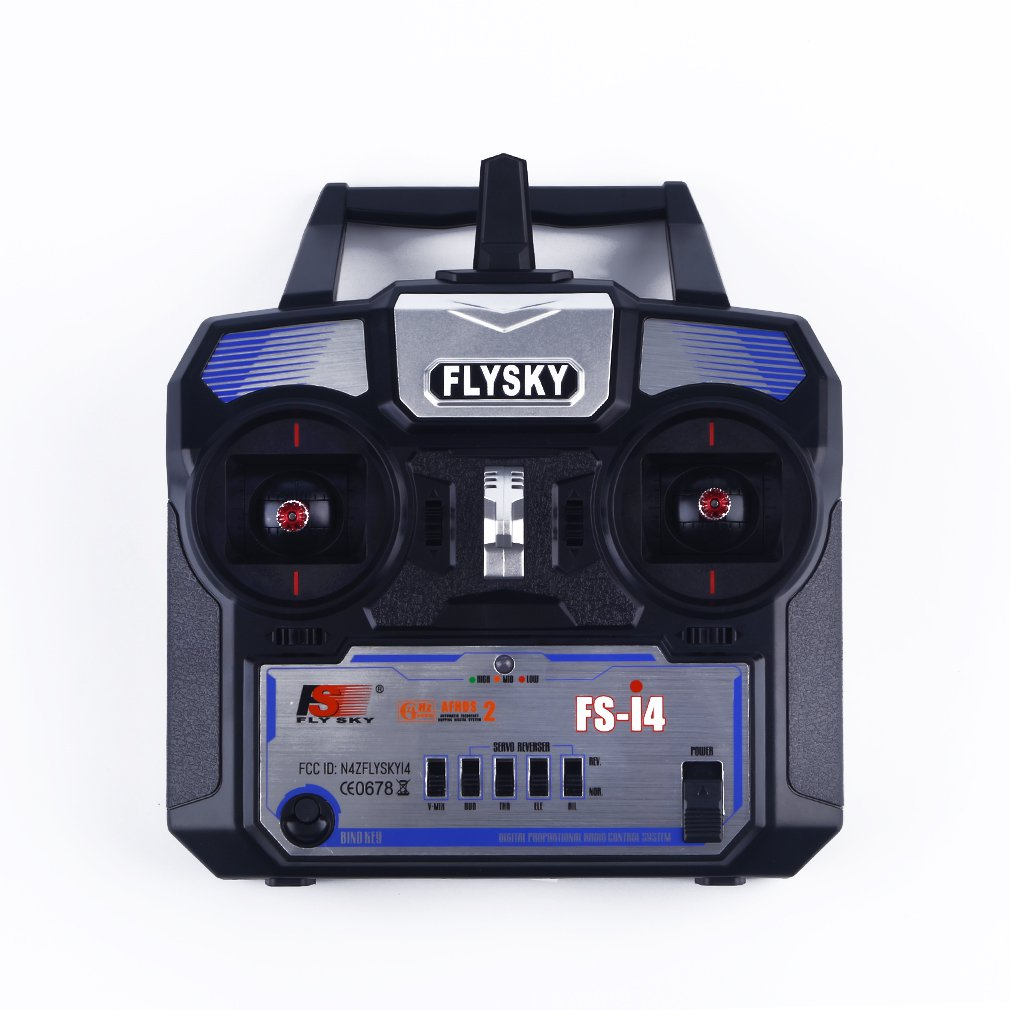 2.4GHz Remote Control A6 Receiver 4 Channels For FlySky FS-i4 RC Airplane