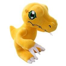 Anime figura agumon boneca de pelúcia dinossauro amarelo animais de pelúcia crianças brinquedos 12