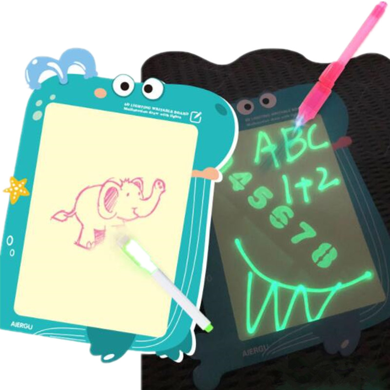 H1625abc2fa1749318e823297d26143b74 - Educational Toy Drawing Board Tablet Graffiti 1pc A4 A3 Led Luminous Magic Raw With Light-fun