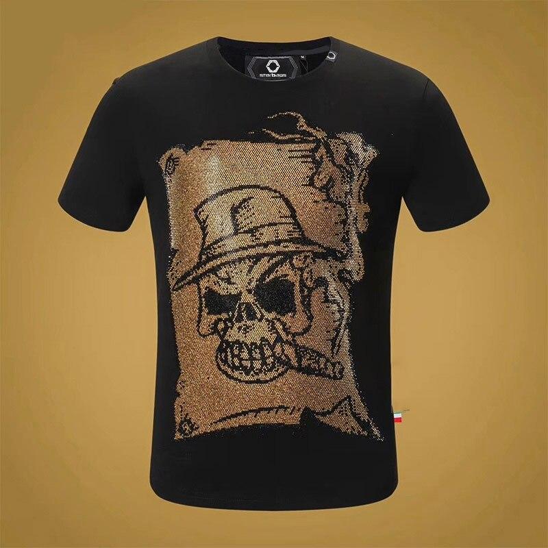 Starbags pp manches T shirt populaire pour les hommes en or estampage impression de rue en vrac simple décontracté demi manches T shirt