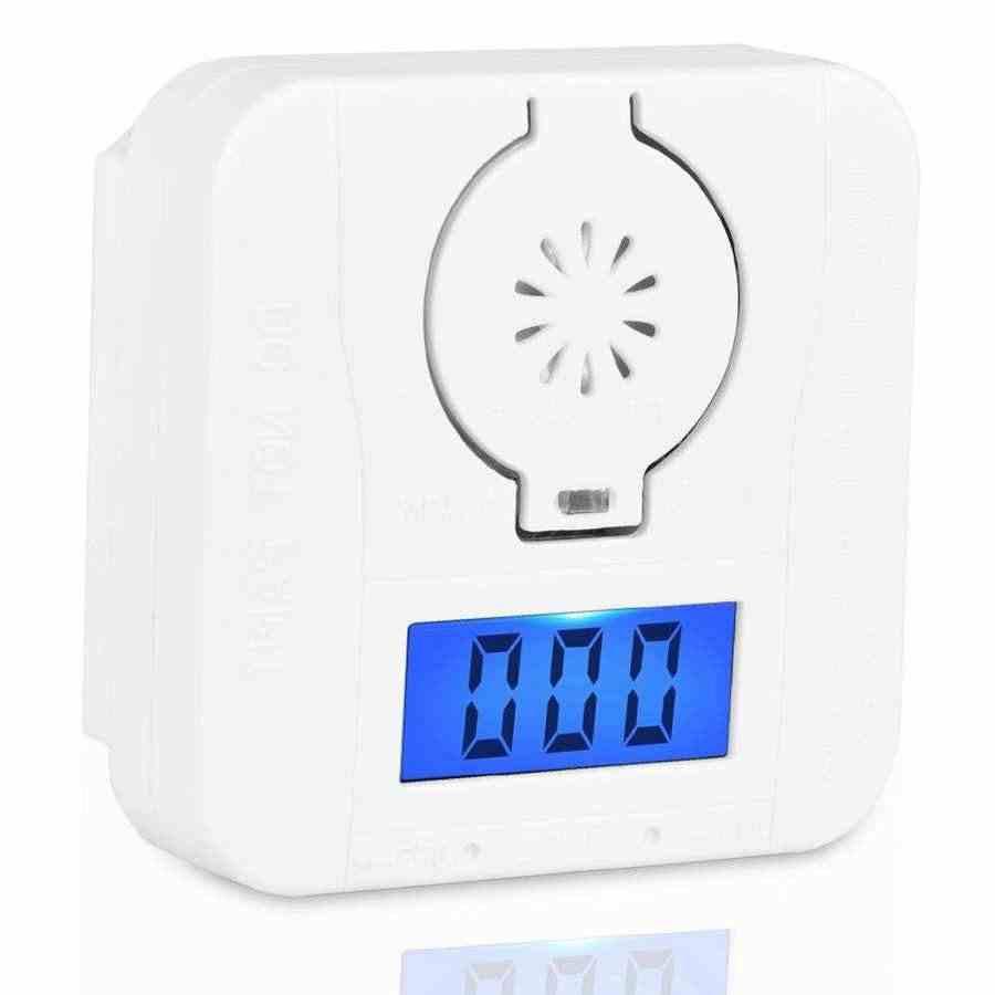 2шт Мини ЖК-экран CO Угарный газ и детектор дыма Сигнализация отравление Предупреждение ющий датчик