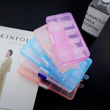 ювелирные изделия ящики для хранения наркотиков, получающих коробка слотов регулируемая прозрачный упаковка инструмент чехол ремесло организатор Box аксессуары