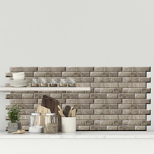 3D Brick Pattern Stickers Kitchen Living Room Bathroom Decoration Tile Kids Anti-collision Wall B