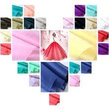 8 момме 110 см органический шелк органза ткань для модных женщин Пышное Платье принцессы в сплошной цвет