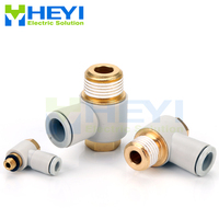 10PCS/bag KQ2V hexagonal Air Pneumatic Pipe Connector 8mm 10mm OD Tube 1/8 3/8 1/4 One touch Shape Gas Quick Fittings