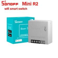 Sonoff minicontrolador inteligente R2 con Wifi, enchufe inteligente de 2 vías DIY con Control remoto en casa, temporizador, funciona con Alexa y Google Home, 2/3/5/6/8/10 Uds.