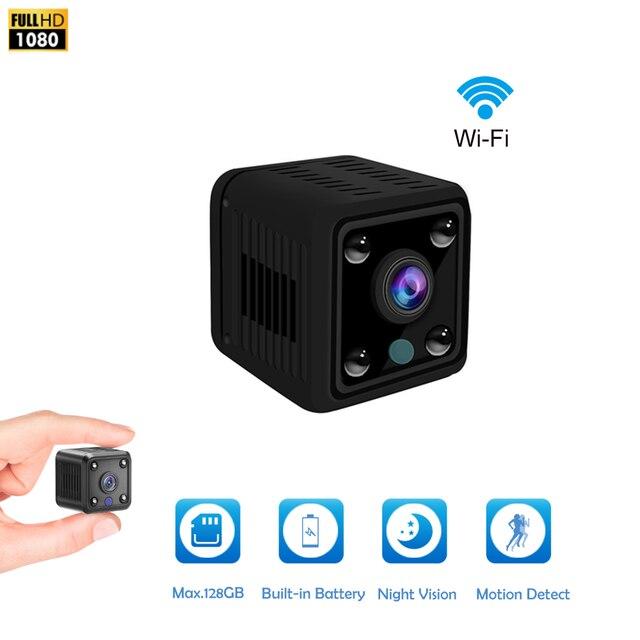 미니 카메라 HD 캠코더 IP 카메라 1080P 나이트 비전 카메라 와이파이 내장 배터리 소형 무선 감시 카메라