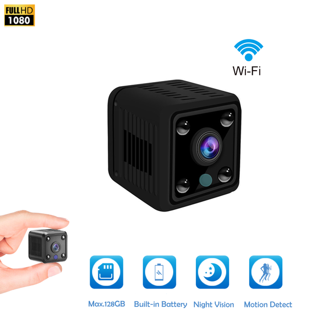 Mini Camera Hd Camcorder Ip Camera 1080P Nachtzicht Camera Wifi Ingebouwde Batterij Kleine Draadloze Bewakingscamera