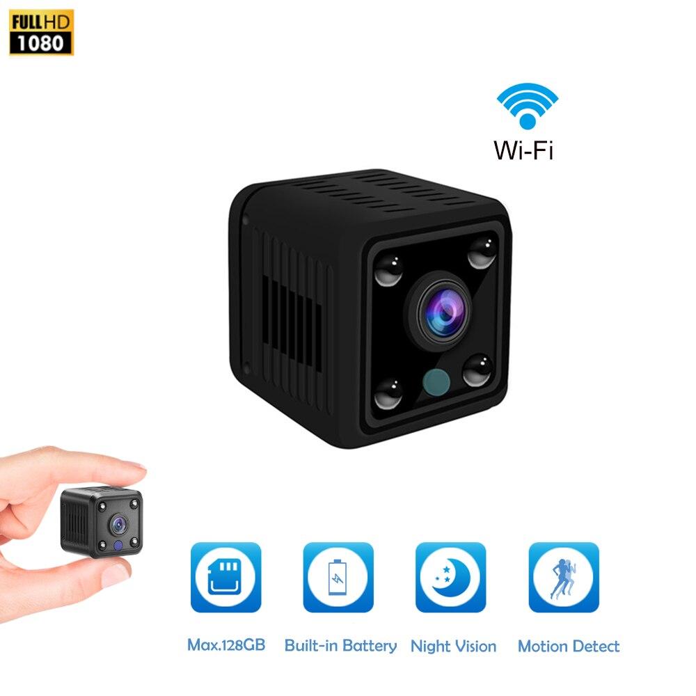 Mini caméra caméscope HD IP 1080P  Caméra à Vision nocturne, WIFI, batterie intégrée, petite caméra de Surveillance sans filCaméras de surveillance   -